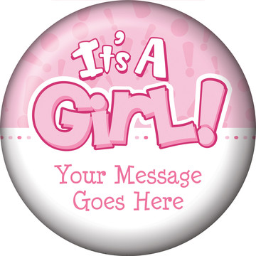 Gender Reveal: It's a Girl Personalized Magnet (Each)