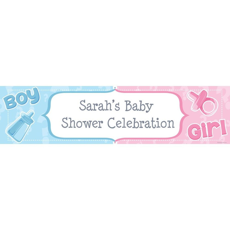 View larger image of Gender Reveal Personalized Banner (Each)