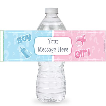 Gender Reveal Personalized Bottle Labels (Sheet of 4)