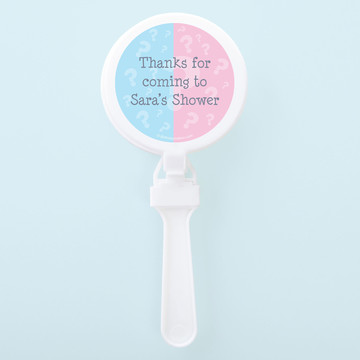 Gender Reveal Personalized Clappers (Set of 12)