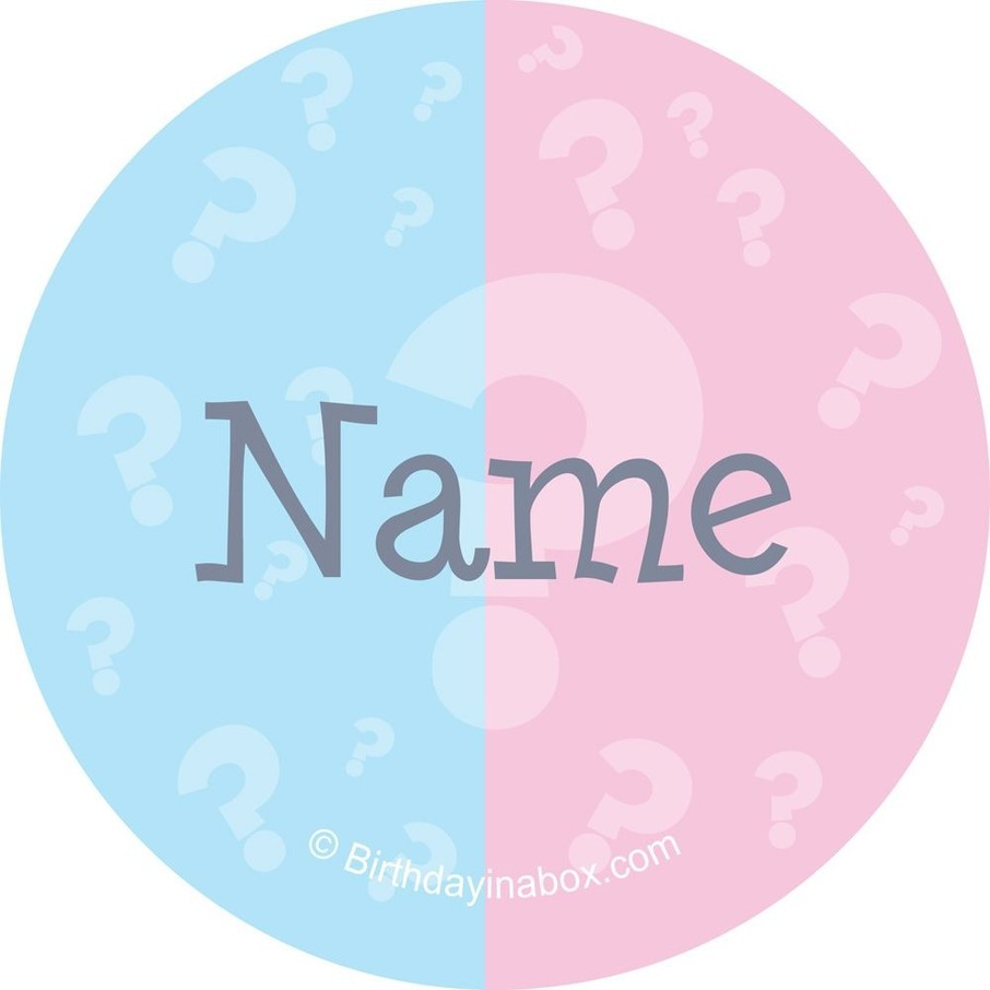 View larger image of Gender Reveal Personalized Mini Stickers (Sheet of 24)