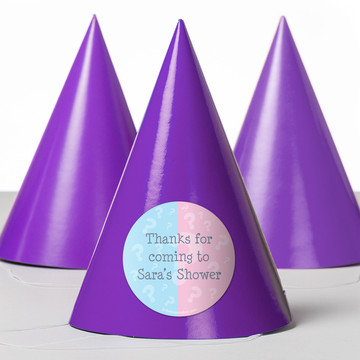 Gender Reveal Personalized Party Hats (8 Count)