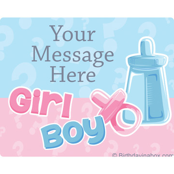 Gender Reveal Personalized Rectangular Stickers (Sheet of 15)