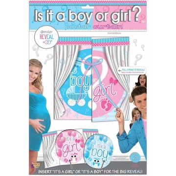 Gender Reveal Poster Curtain