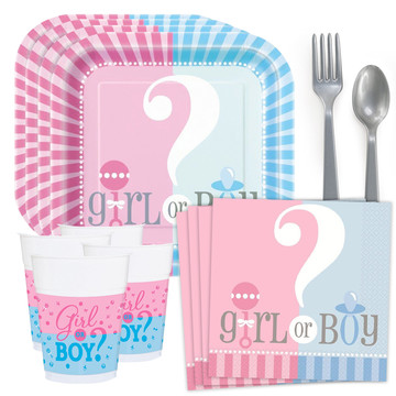 Gender Reveal Standard Tableware Kit (Serves 24)