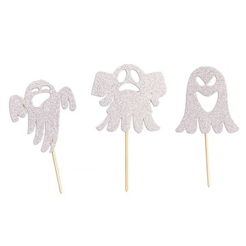 Ghost Cupcake Picks 7 pcs