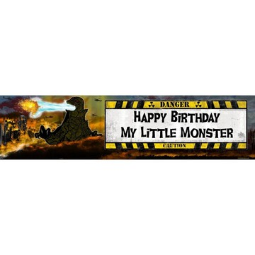 Giant Monster Personalized Banner (Each)