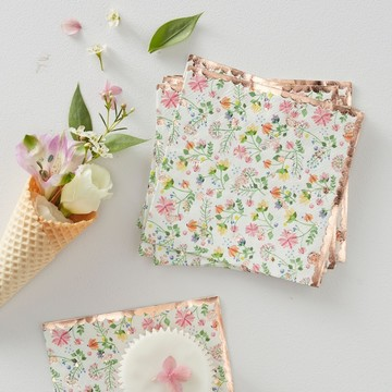 Ginger Ray Ditsy Floral Napkins, 16ct