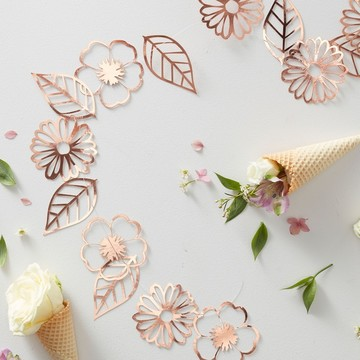 Ginger Ray Ditsy Foil Floral Garland