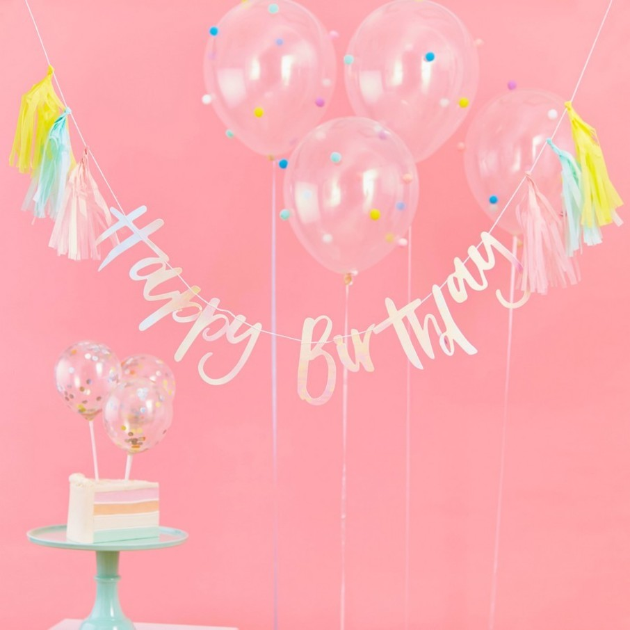 View larger image of Ginger Ray Pastel Party Happy Birthday Tassel Banner