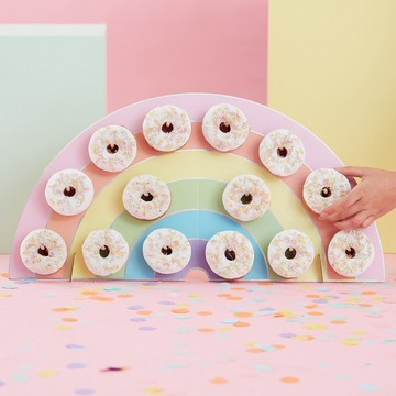 Ginger Ray Pastel Party Rainbow Donut Holder