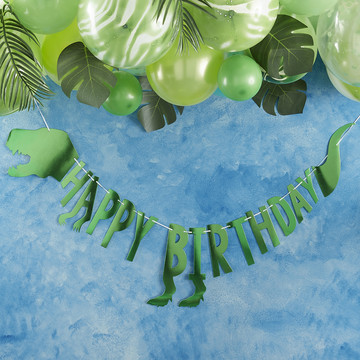 Ginger Ray Roarsome Dinosaur Happy Birthday Banner
