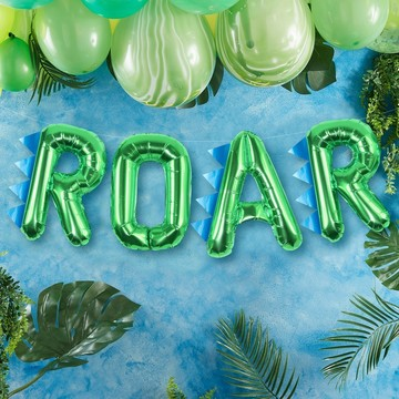 Ginger Ray Roarsome Dinosaur Spiked Roar Balloon Banner