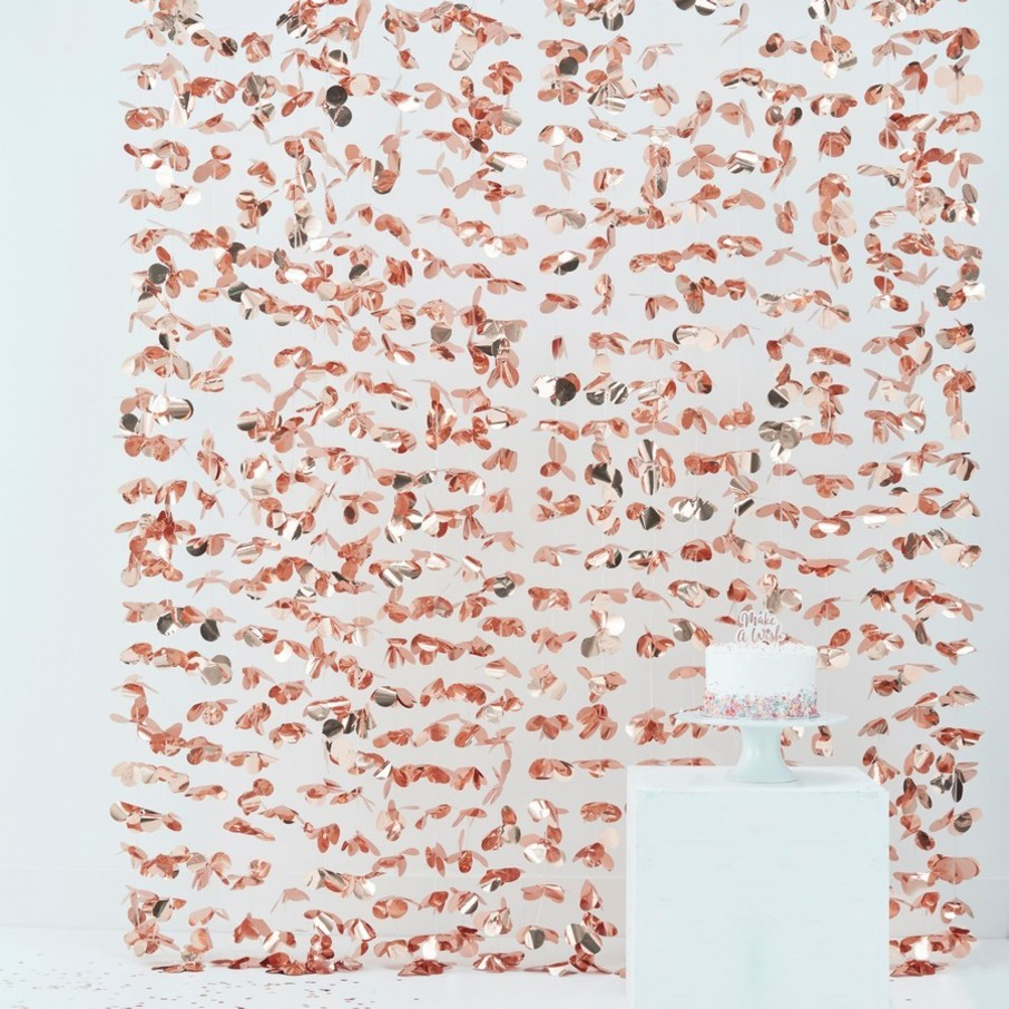 View larger image of Ginger Ray Rose Gold Floating Petal Flower Curtain