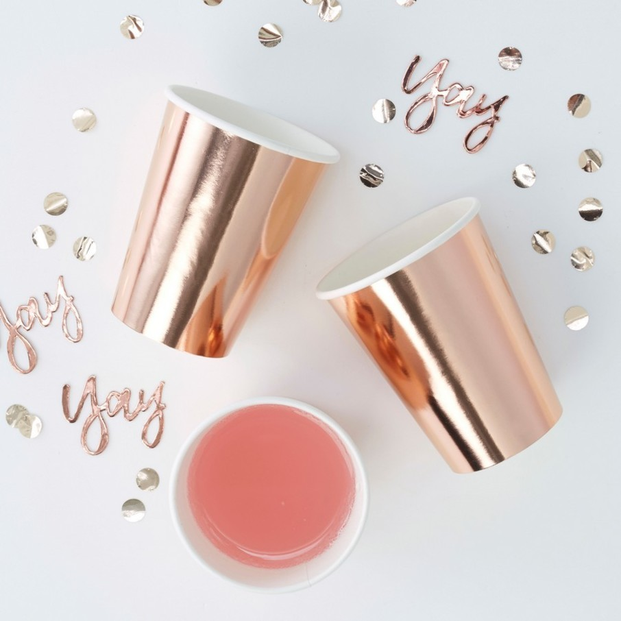 View larger image of Ginger Ray Rose Gold Foiled Cups, 8ct