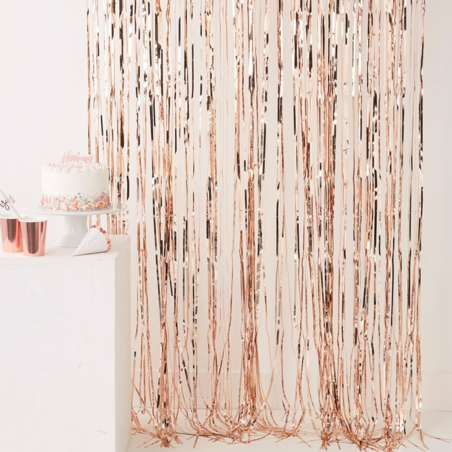 View larger image of Ginger Ray Rose Gold Fringe Curtain