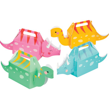 Girls Dino-Roar 3D Treat Boxes, Assorted Colors