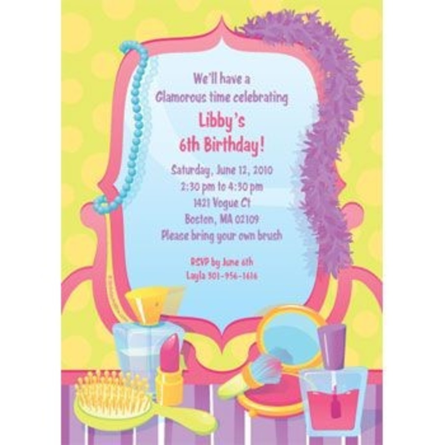View larger image of Glamorous Party Personalized Invitation (each)