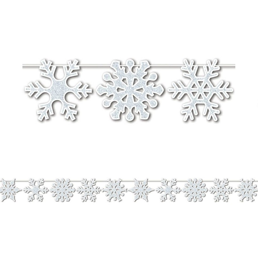 View larger image of Glittered Snowflake 12' Streamer (Each)