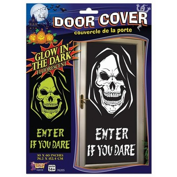 Glow in the Dark Skull Door Poster