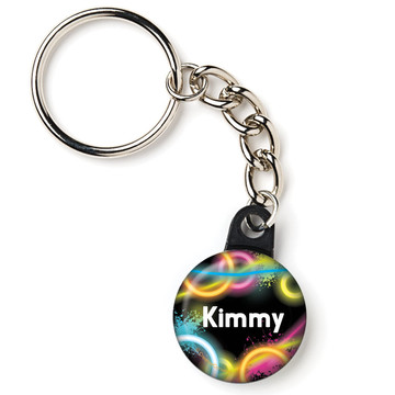 "Glow Party Personalized 1"" Mini Key Chain (Each)"