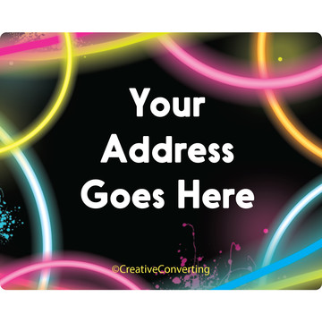 Glow Party Personalized Address Labels (Sheet of 15)