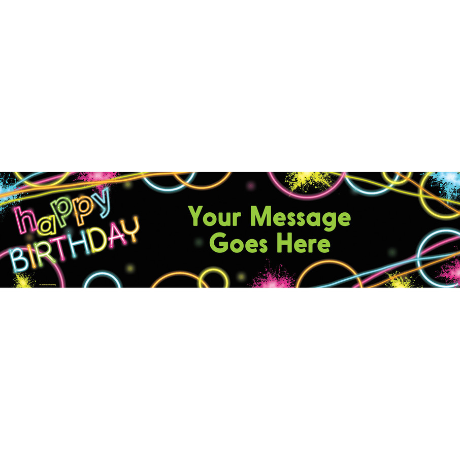View larger image of Glow Party Personalized Banner (Each)