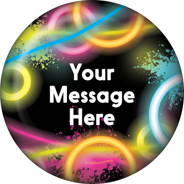 Glow Party Personalized Button (Each)