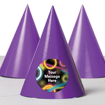 Glow Party Personalized Party Hats (8 Count)