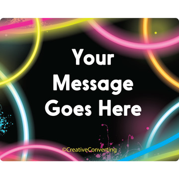 Glow Party Personalized Rectangular Stickers (Sheet of 15)