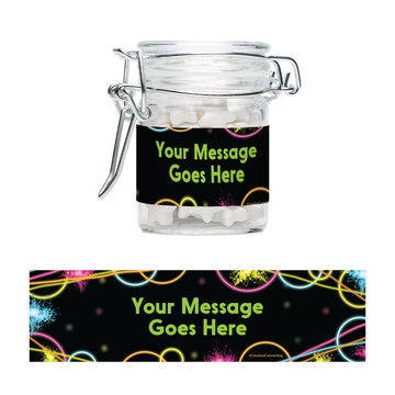Glow Party Personalized Swing Top Apothecary Jars (12 ct)