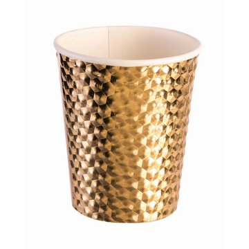 Gold 8oz Paper Cup, 8ct