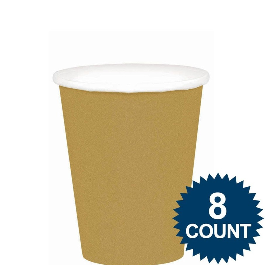 View larger image of Gold 9Oz. Paper Cups (8 Pack)