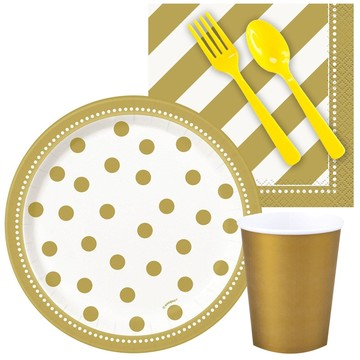 Gold and White Birthday Snack Party Pack