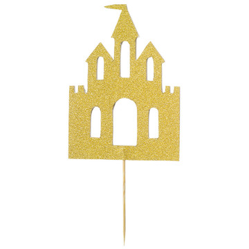 Gold Castle Cake Topper