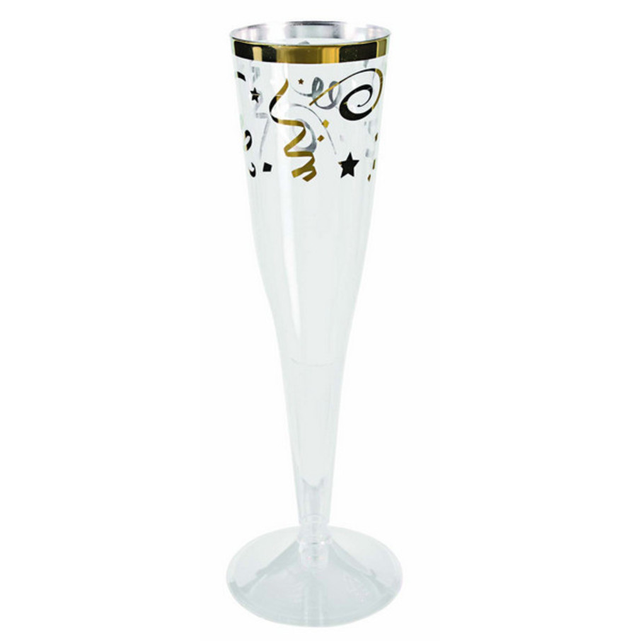 View larger image of Gold Confetti Champagne Flutes (6)