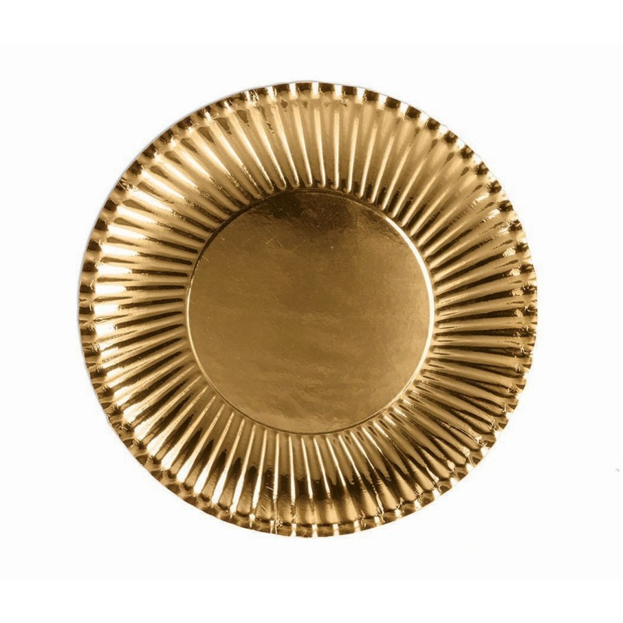 View larger image of Gold Dessert Paper Plates, 10ct