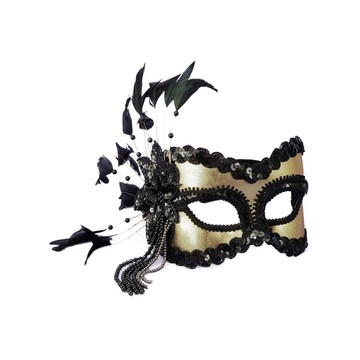 Gold Feather Eye Mask