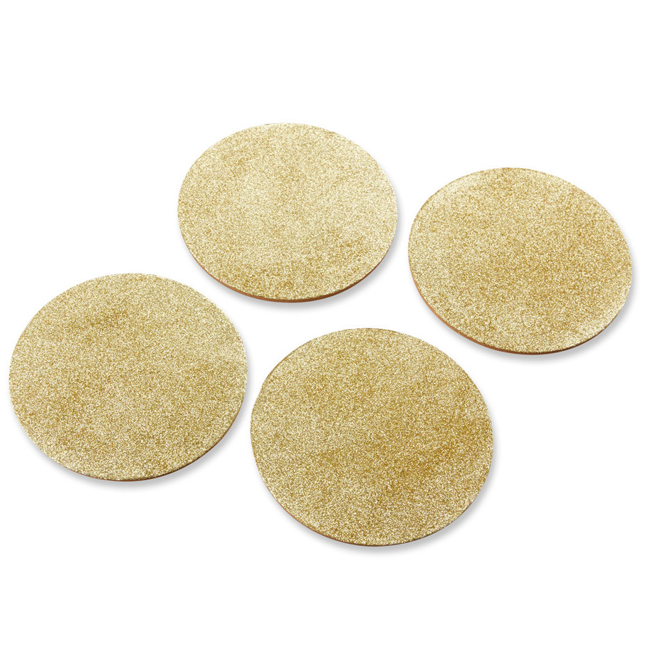 View larger image of Gold Glitter Coasters (Set of 4)