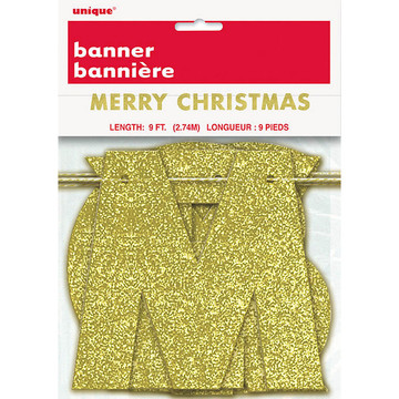 Gold Glitter Merry Christmas Banner (1)