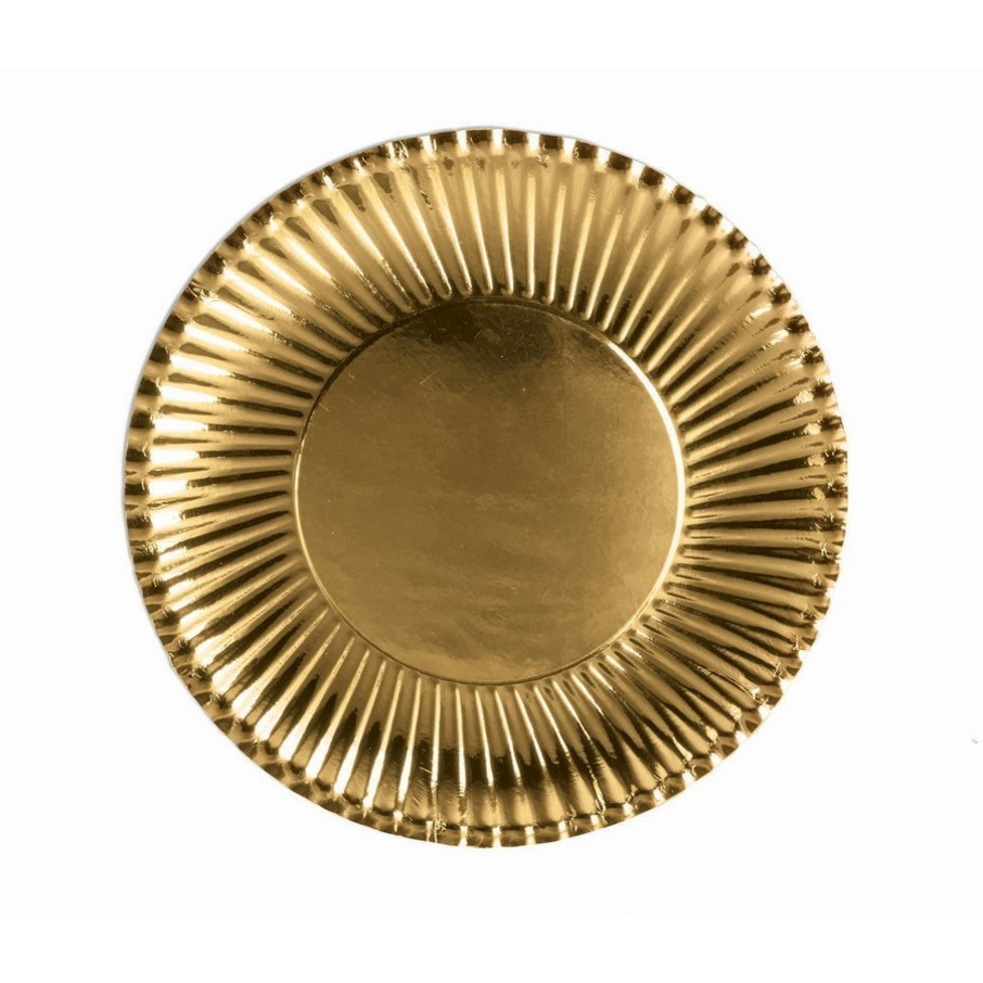View larger image of Gold Lunch Paper Plates, 10ct