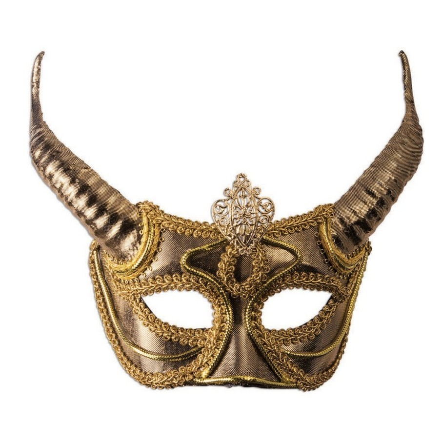 View larger image of Gold Mask with Horns