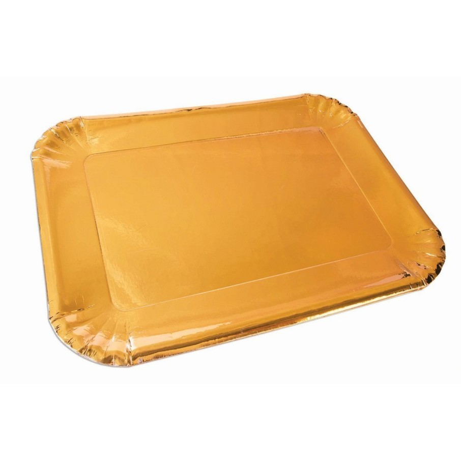 View larger image of Gold Paper Platters, 4ct