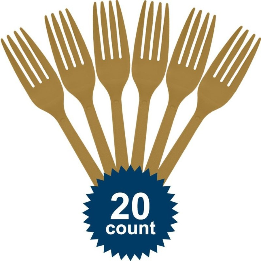 View larger image of Gold Plastic Forks (20 Pack)