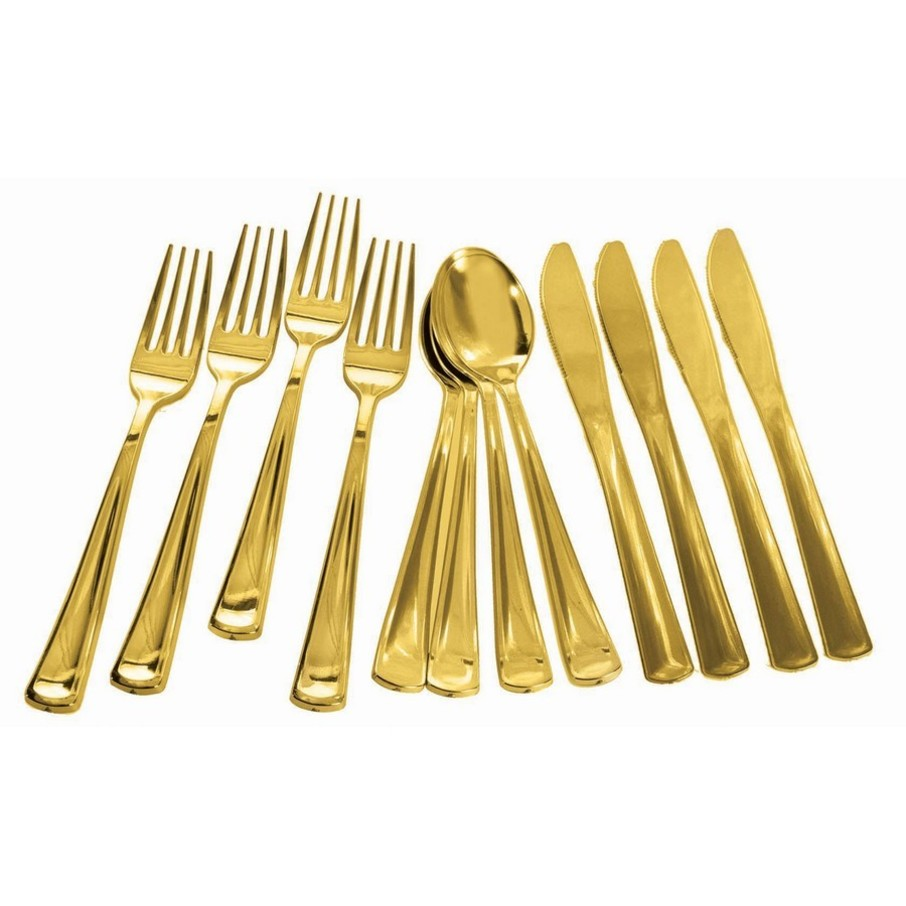 View larger image of Gold Plated Cutlery Multipack, 12ct