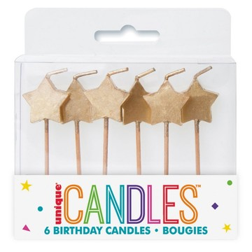 Gold Star Pick Candles (6)