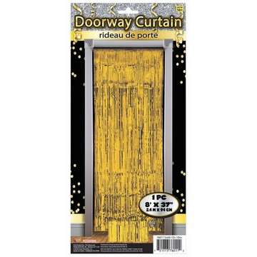 Gold Tinsel Doorway Curtain