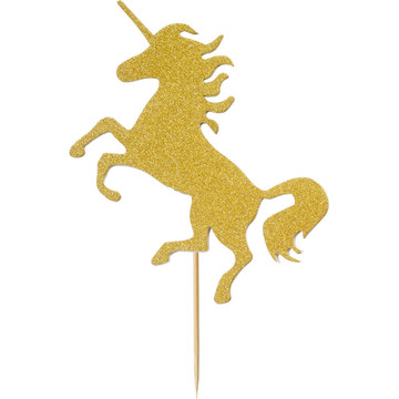 Gold Unicorn Cake Topper