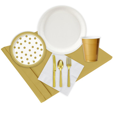 Gold White Party Pack (24)