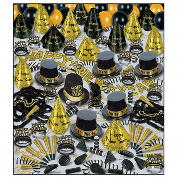 Golden Bonanza New Year's Eve Kit (For 100 Guests)